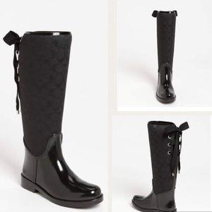 coach tristee bow tie back rain boots